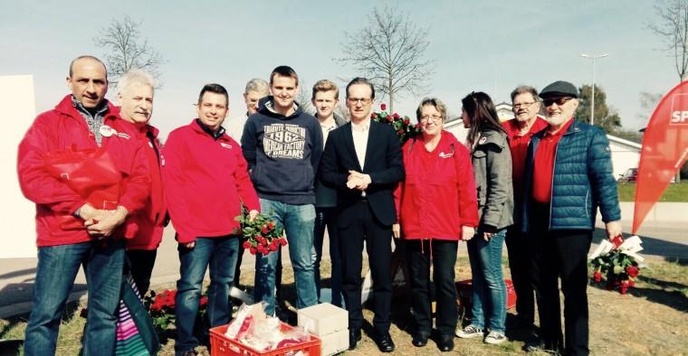Die Genossinen und Genossen mit Bundesjustizminister Heiko Maas.