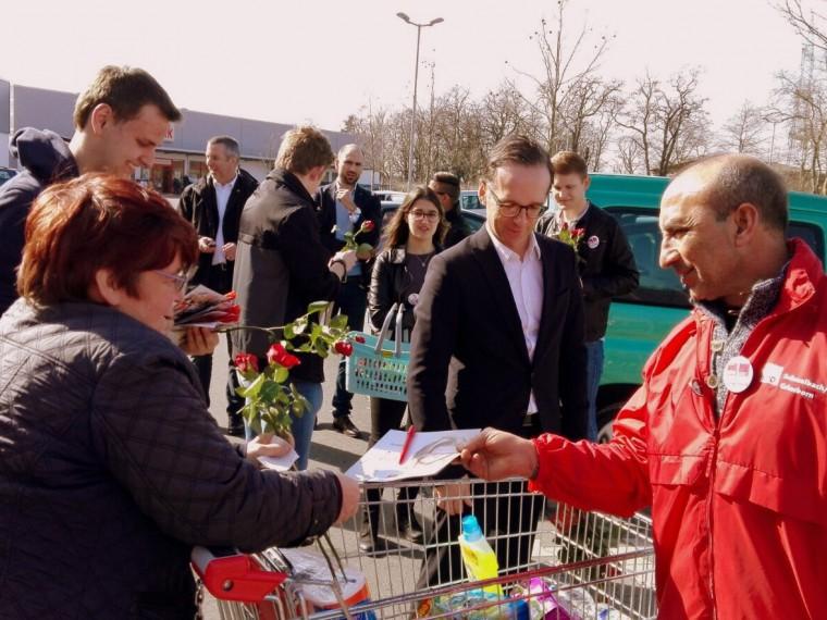Bundesjustizminister beim Wahlkampfendspurt.